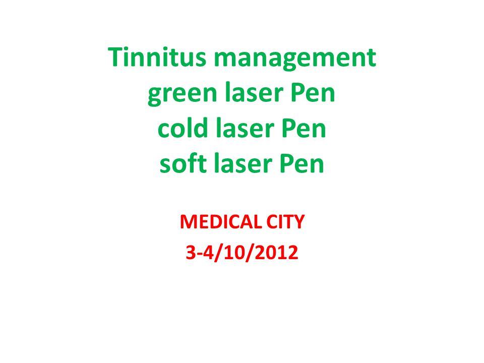 Tinnitus management green laser Pen cold laser Pen soft laser Pen