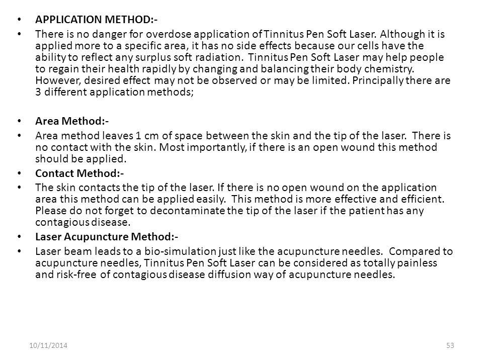 Laser Acupuncture Method:-