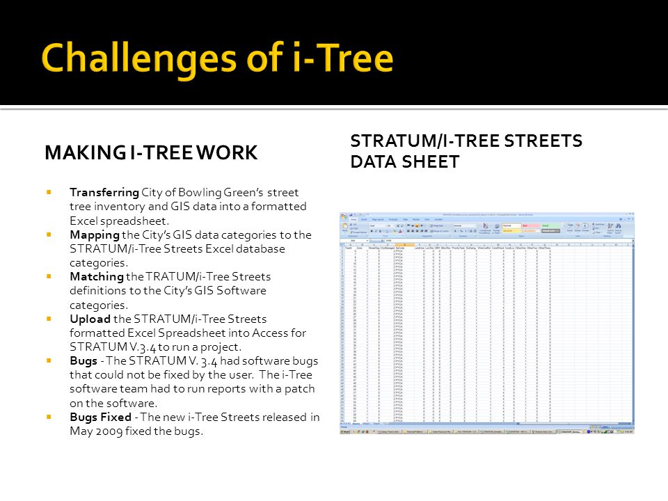 Challenges of i-Tree Making i-tree work