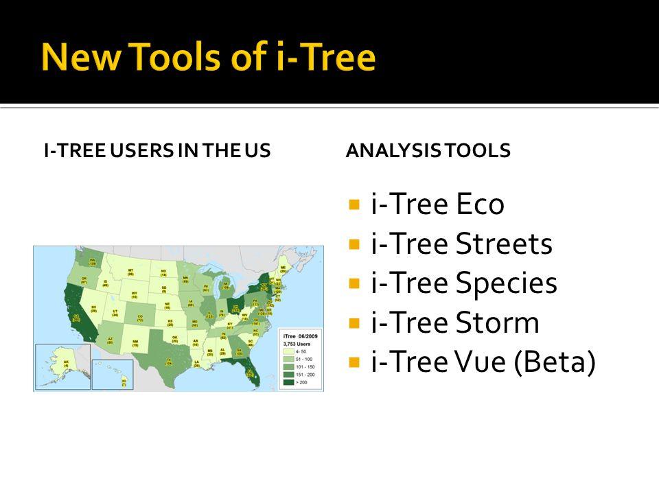 New Tools of i-Tree i-Tree Eco i-Tree Streets i-Tree Species