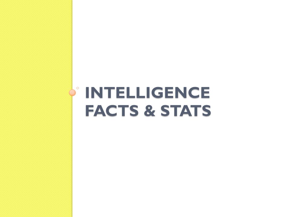 Intelligence Facts & Stats