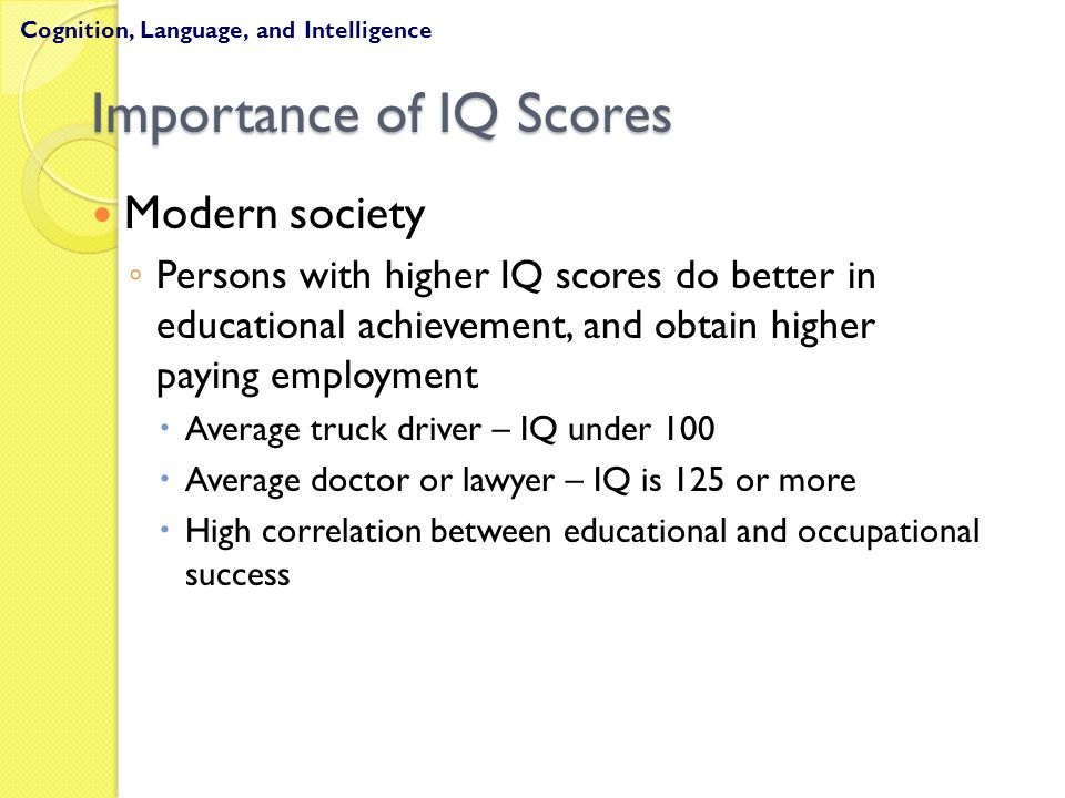 Importance of IQ Scores