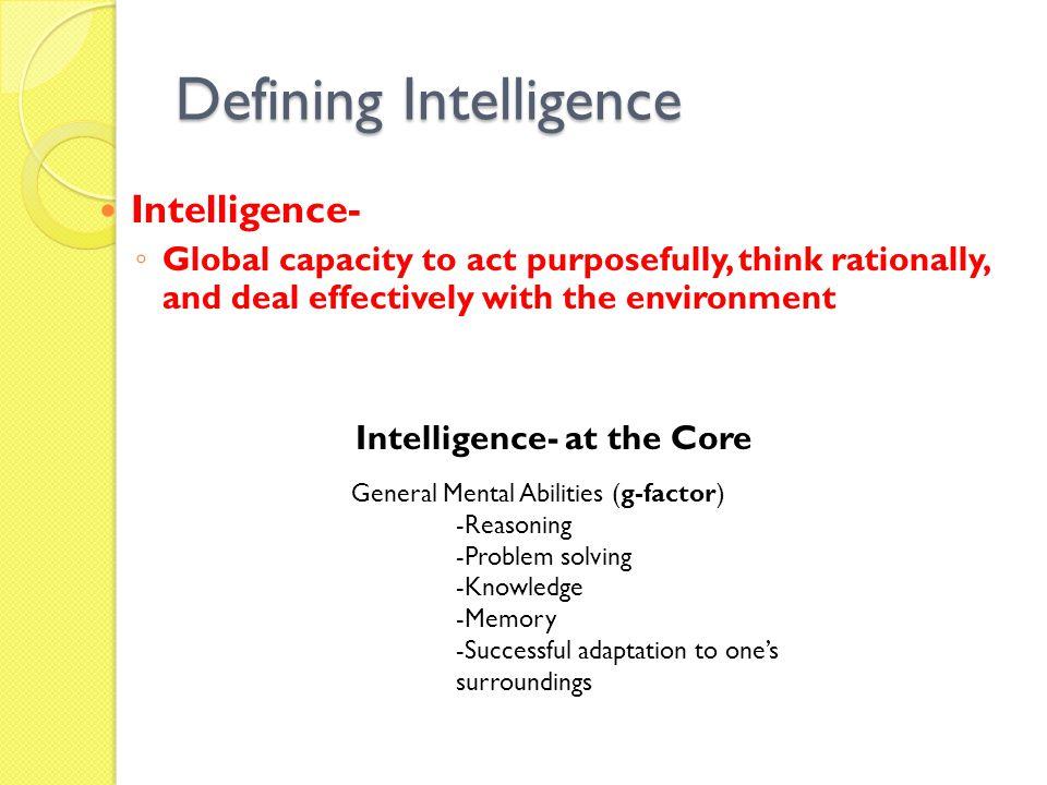 Defining Intelligence