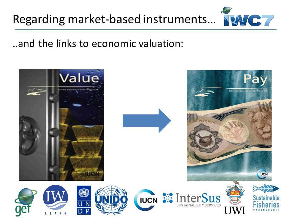 Regarding market-based instruments…