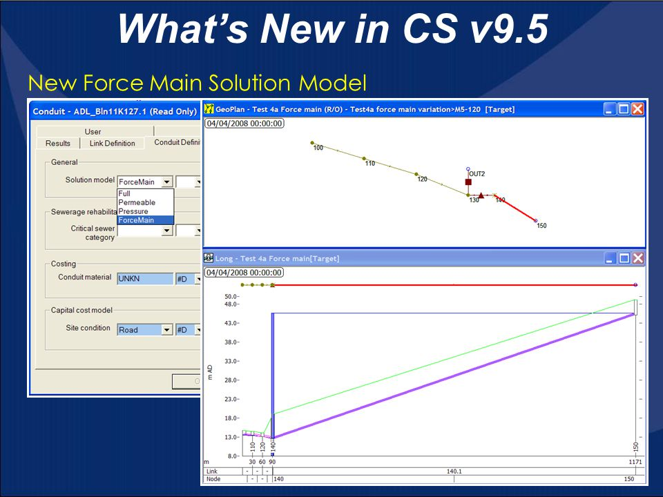 What's New in CS v9.5 New Force Main Solution Model