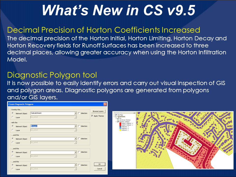 What's New in CS v9.5 Decimal Precision of Horton Coefficients Increased.