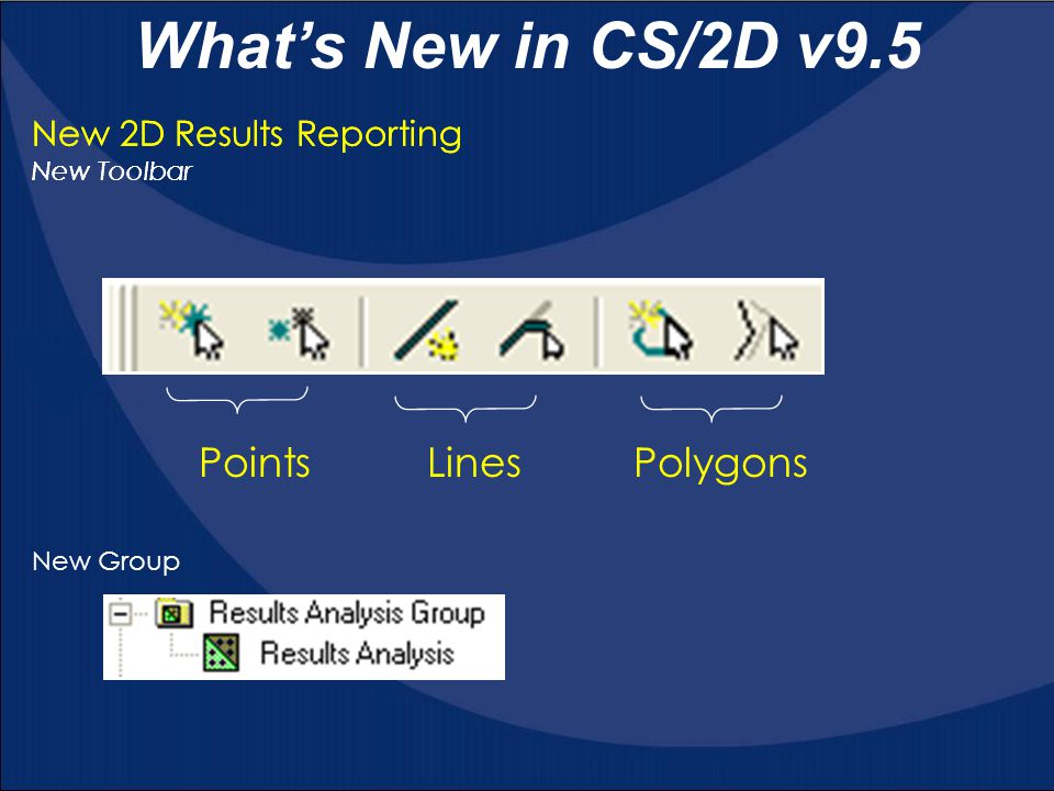 What's New in CS/2D v9.5 Points Lines Polygons
