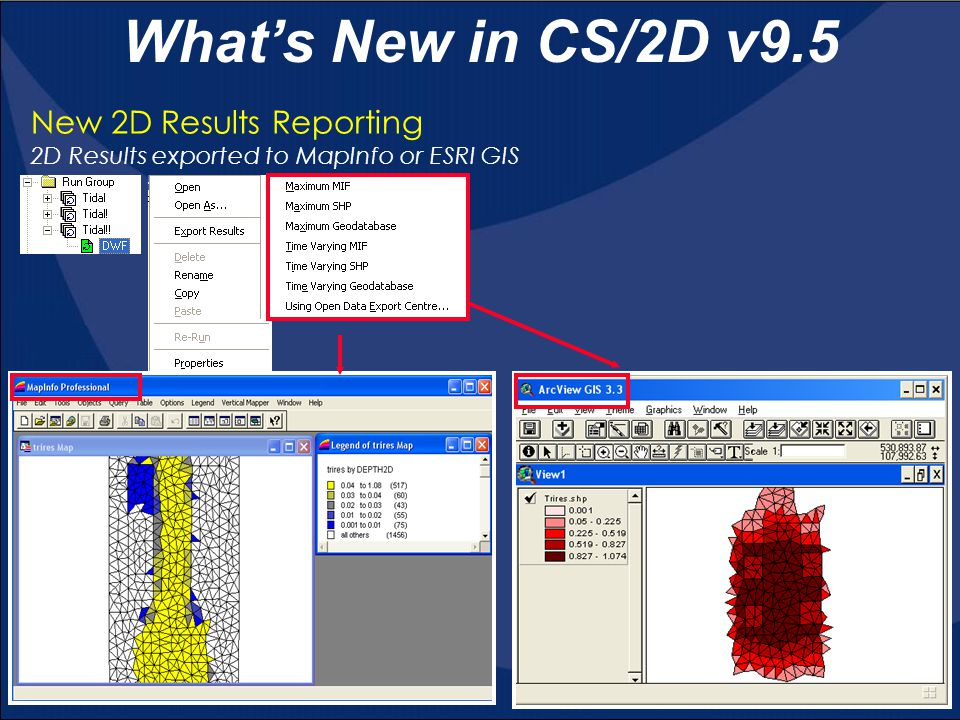 What's New in CS/2D v9.5 New 2D Results Reporting