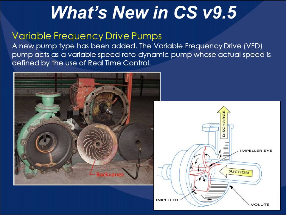 What's New in CS v9.5 Variable Frequency Drive Pumps