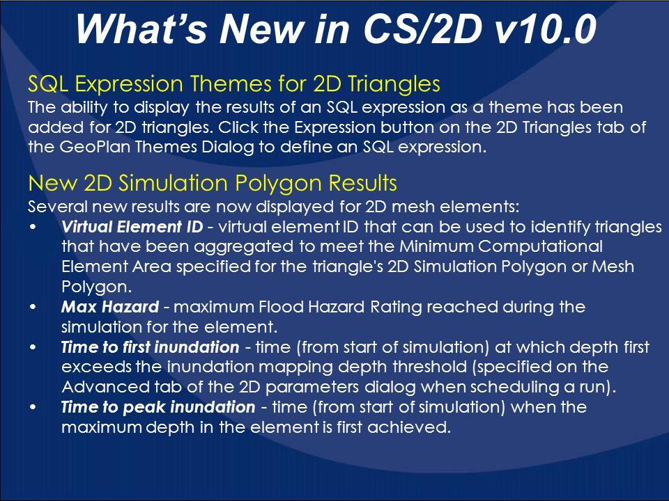 What's New in CS/2D v10.0 SQL Expression Themes for 2D Triangles