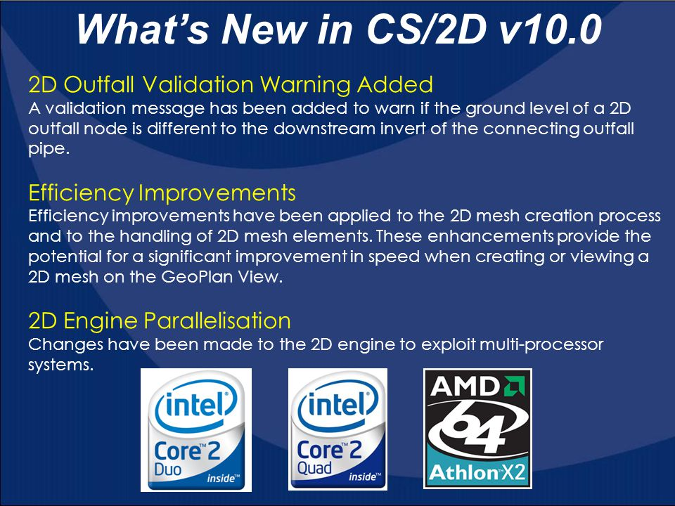 What's New in CS/2D v10.0 2D Outfall Validation Warning Added