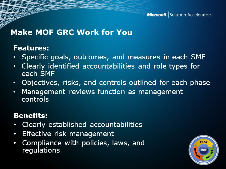 Make MOF GRC Work for You