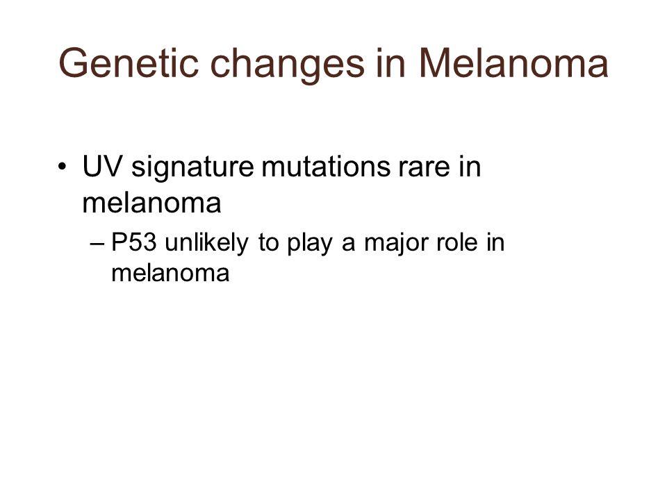 Genetic changes in Melanoma