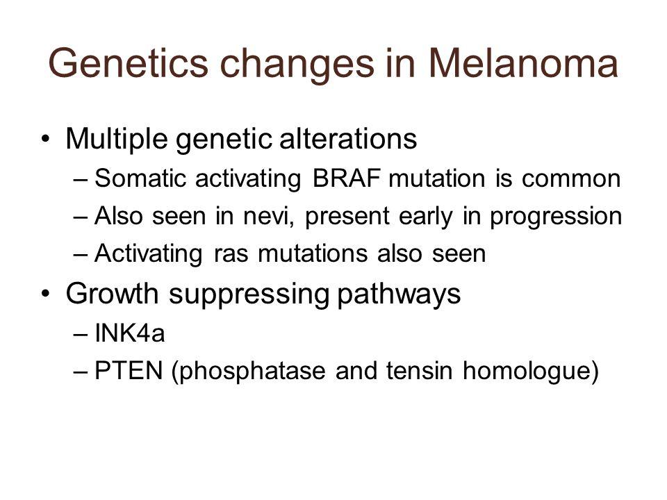 Genetics changes in Melanoma