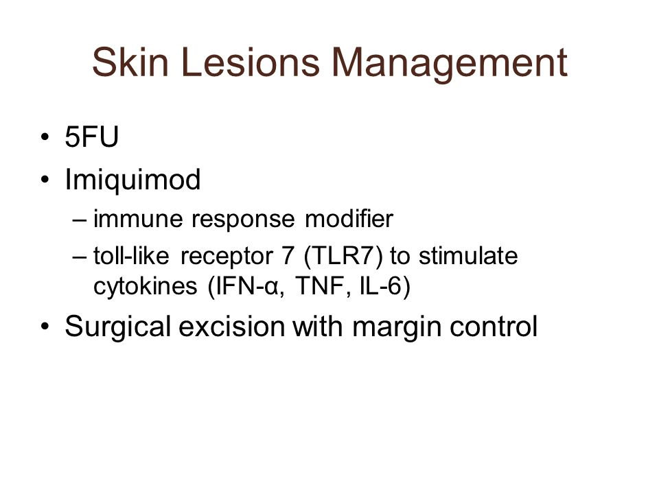 Skin Lesions Management