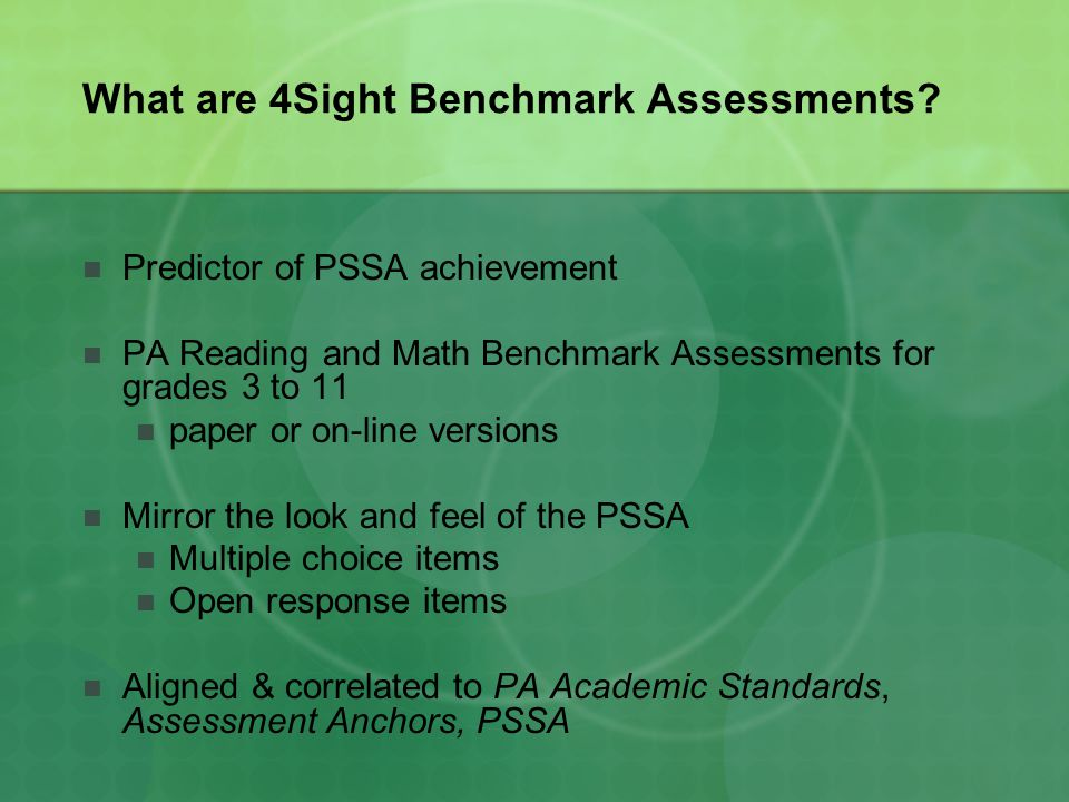 What are 4Sight Benchmark Assessments