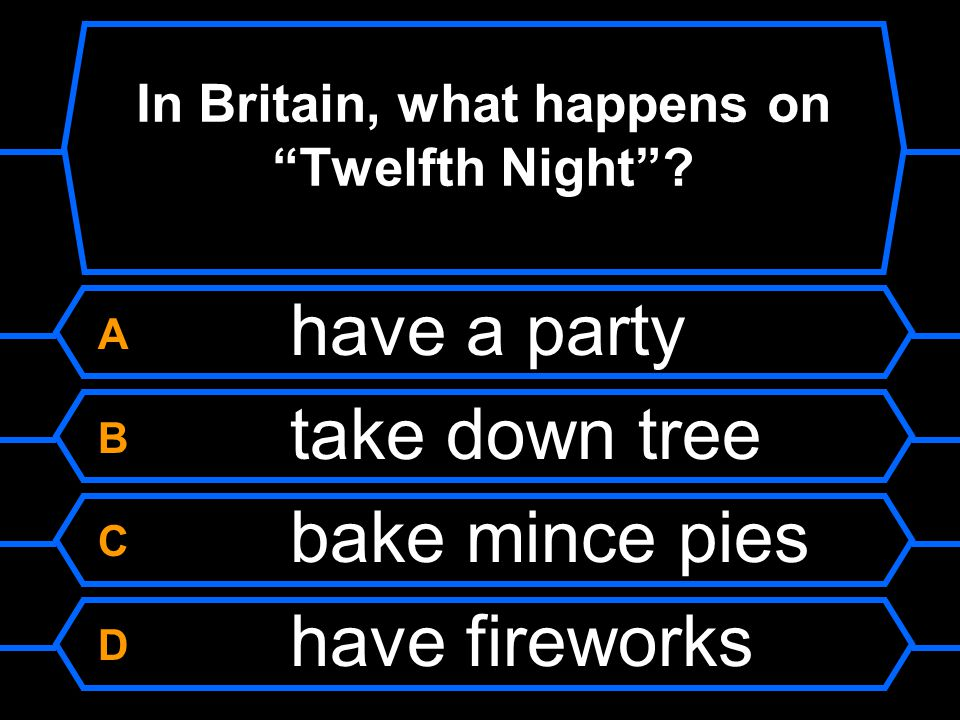 In Britain, what happens on Twelfth Night