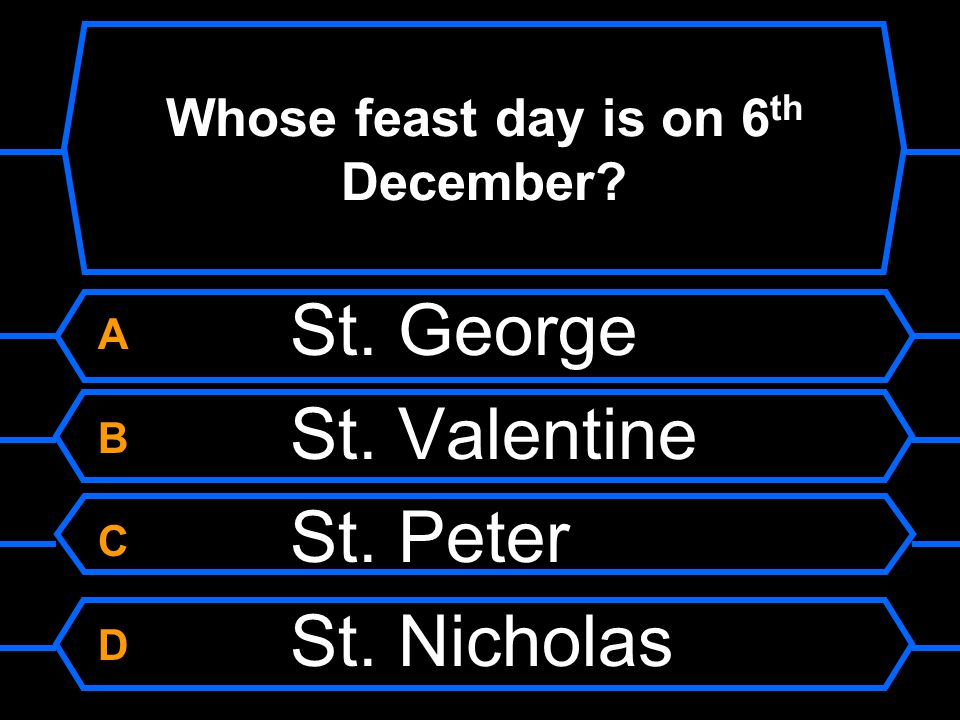 Whose feast day is on 6th December