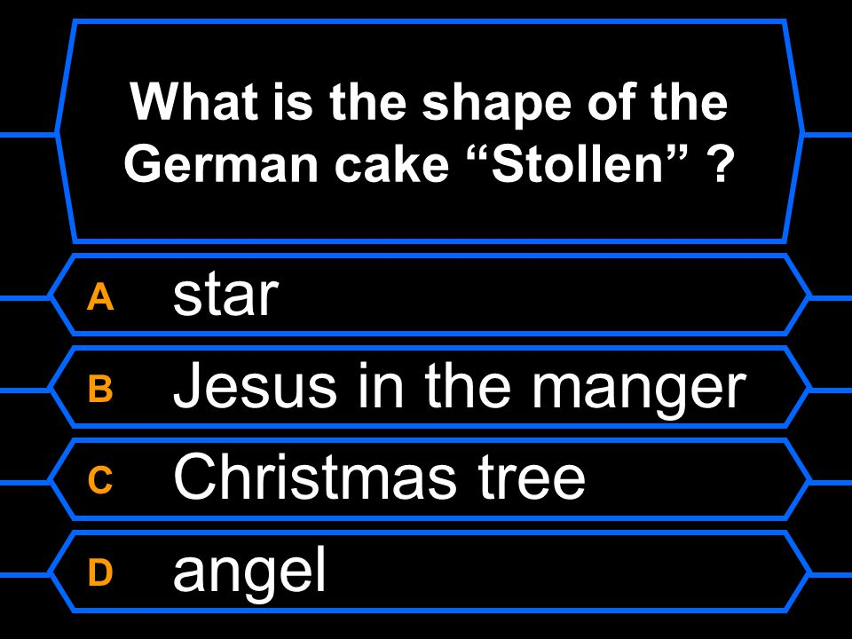 What is the shape of the German cake Stollen