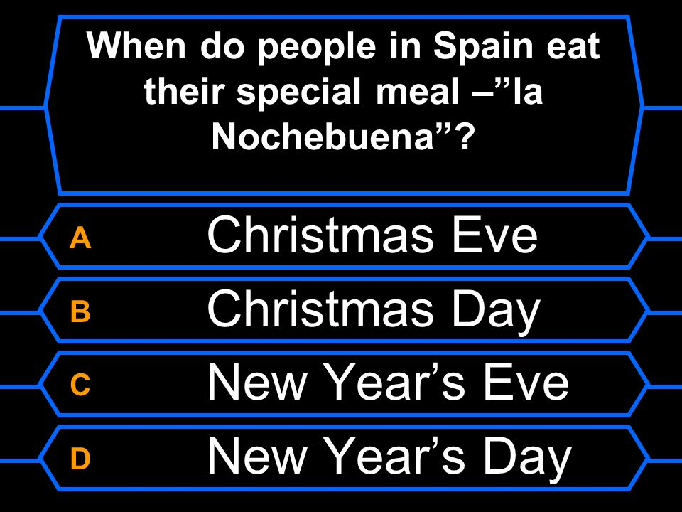 When do people in Spain eat their special meal – la Nochebuena
