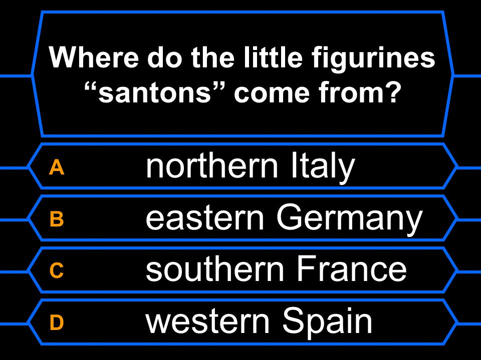 Where do the little figurines santons come from