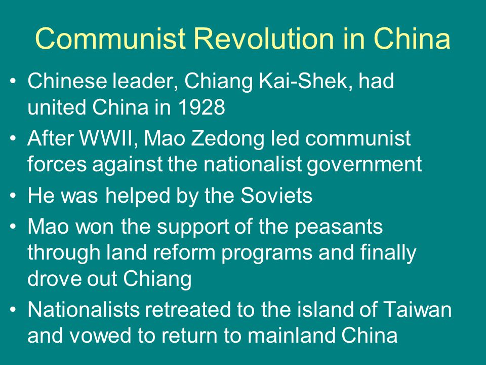 Communist Revolution in China