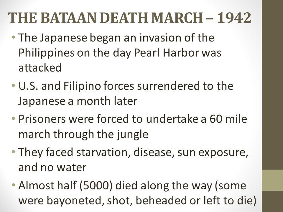 THE BATAAN DEATH MARCH – 1942