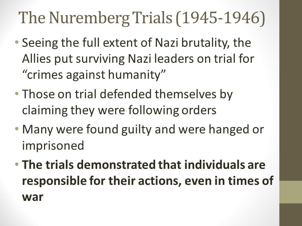 The Nuremberg Trials (1945-1946)
