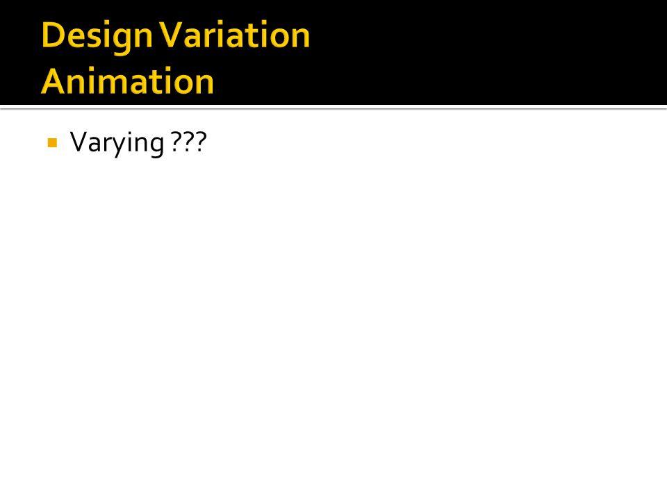 Design Variation Animation