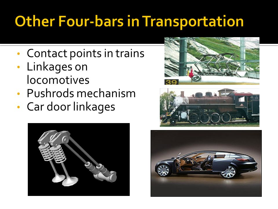 Other Four-bars in Transportation