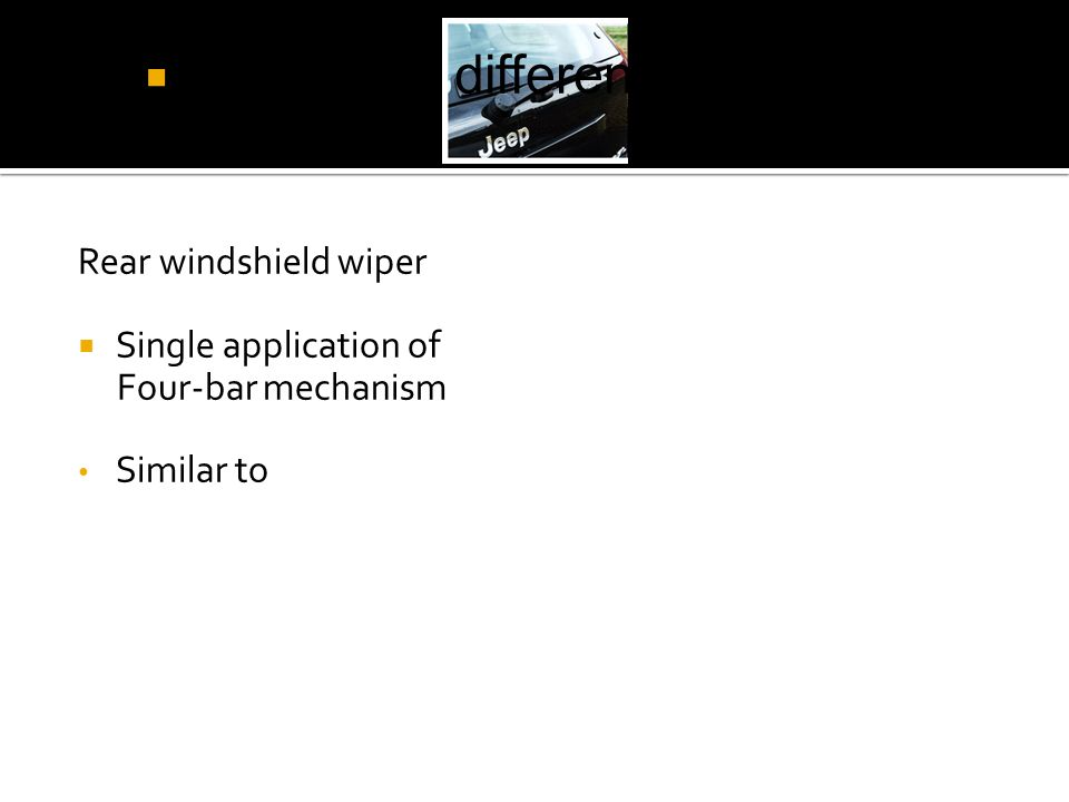 How is the difference of Rear wiper