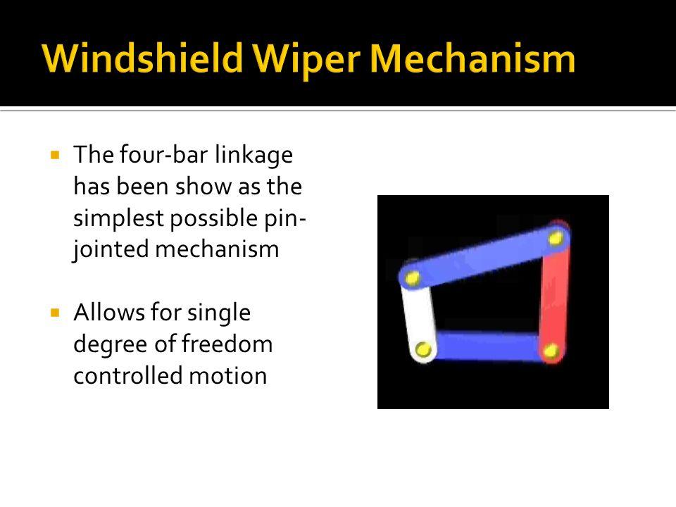 Windshield Wiper Mechanism