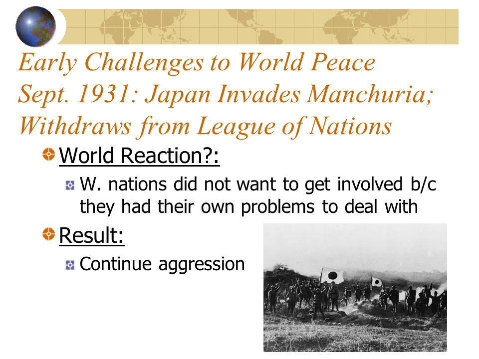 Early Challenges to World Peace Sept