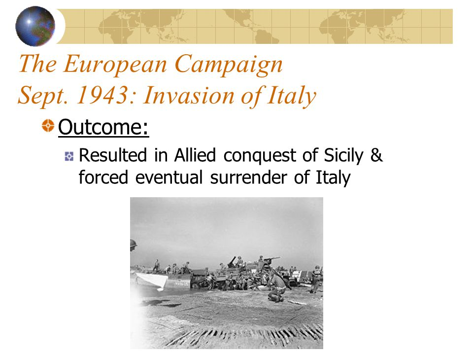 The European Campaign Sept. 1943: Invasion of Italy