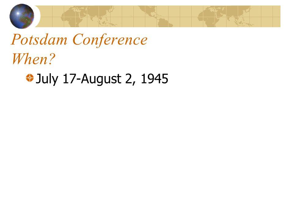 Potsdam Conference When