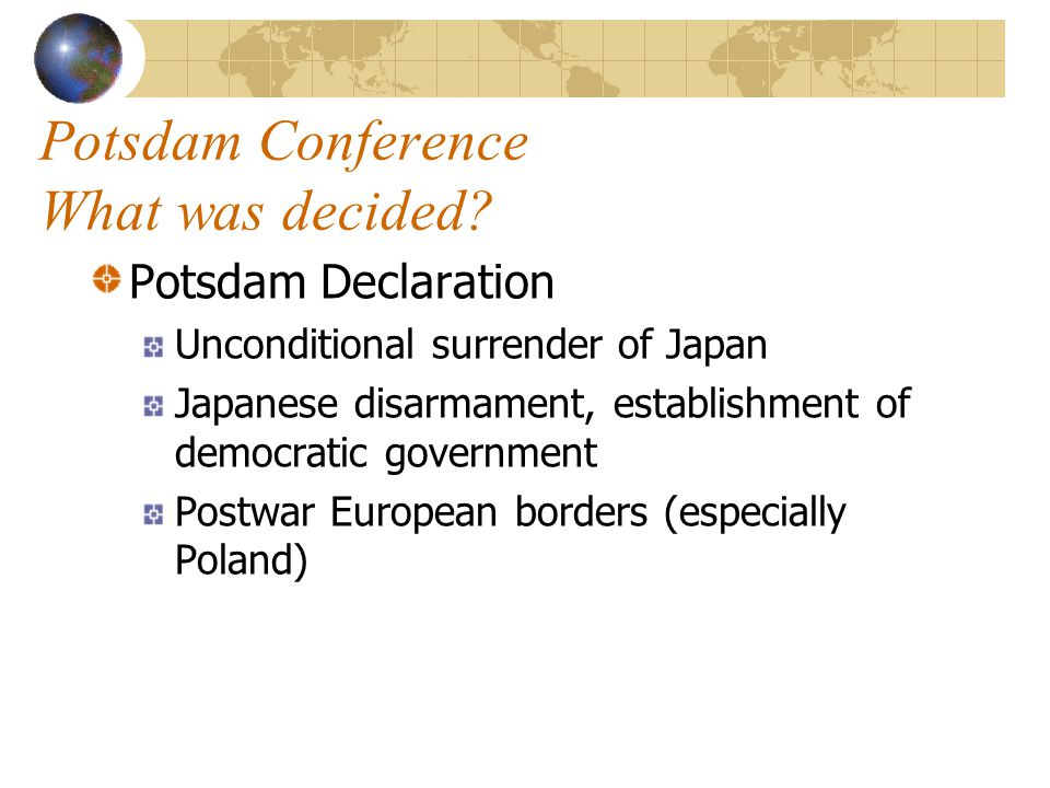 Potsdam Conference What was decided