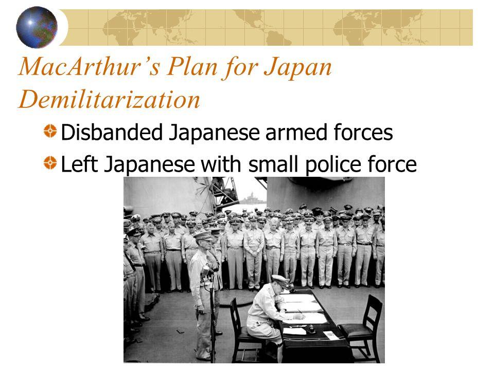 MacArthur's Plan for Japan Demilitarization