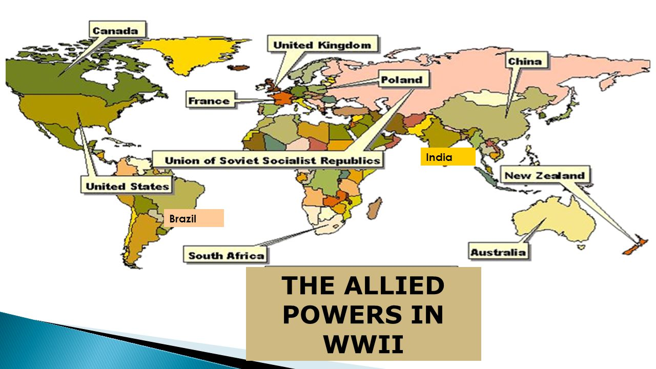 THE ALLIED POWERS IN WWII