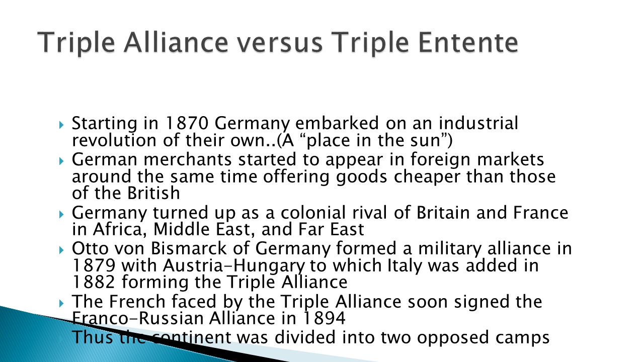Triple Alliance versus Triple Entente