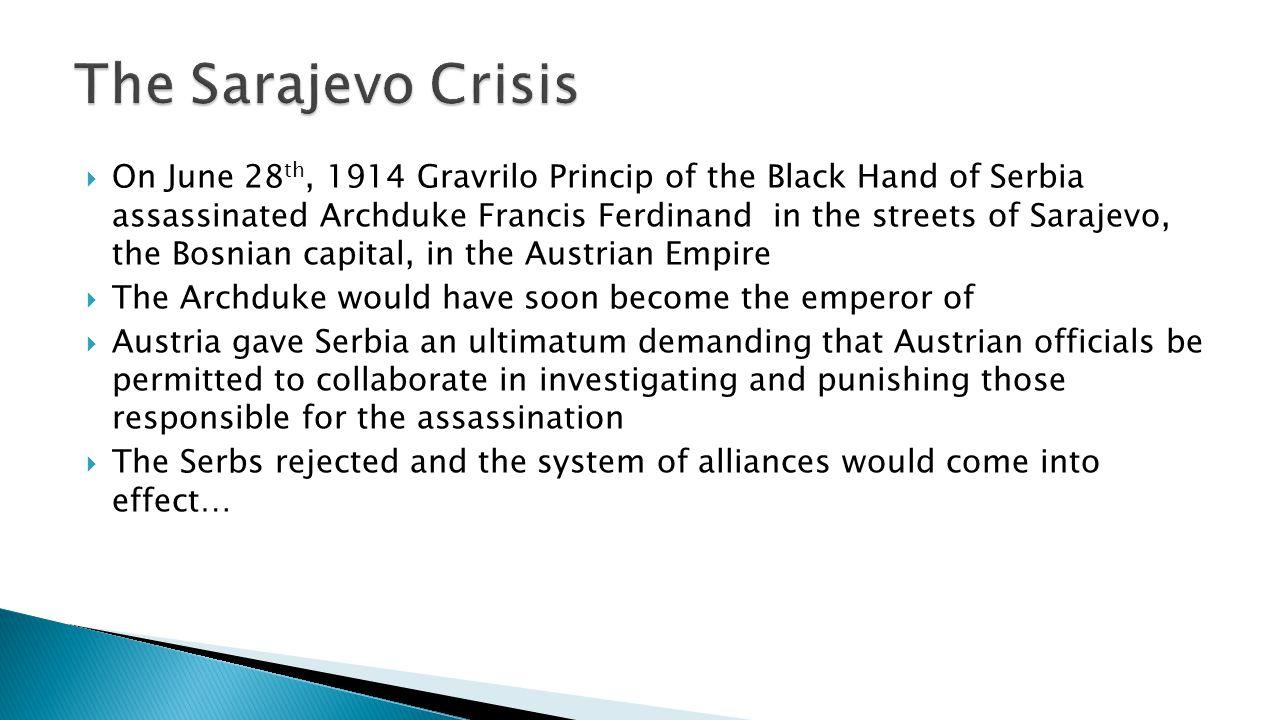 The Sarajevo Crisis