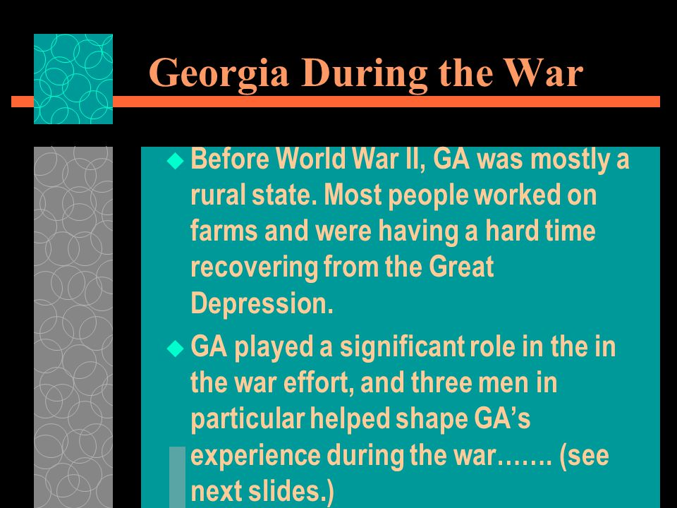 Georgia During the War
