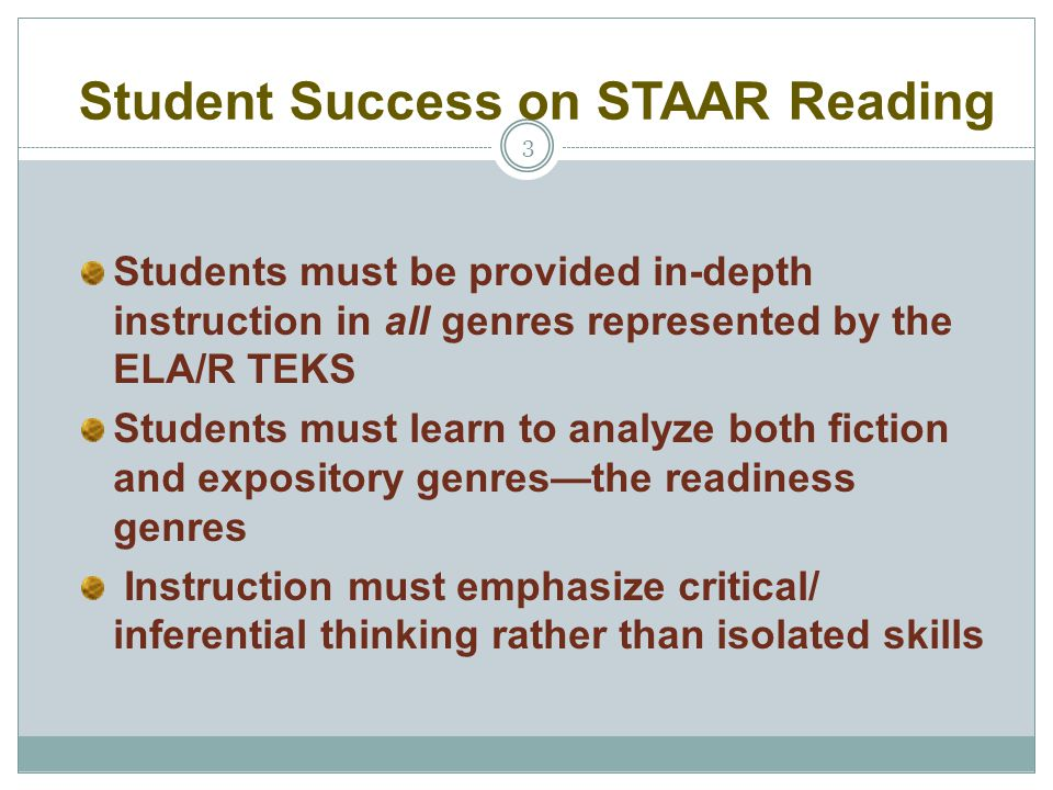 Student Success on STAAR Reading