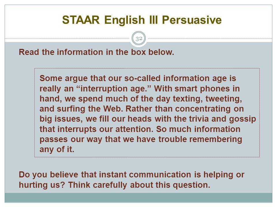 STAAR English III Persuasive