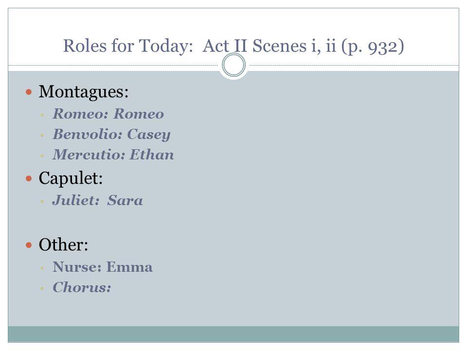 Roles for Today: Act II Scenes i, ii (p. 932)