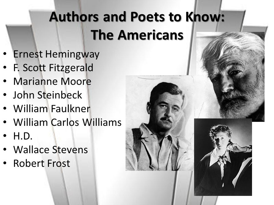 Authors and Poets to Know: The Americans