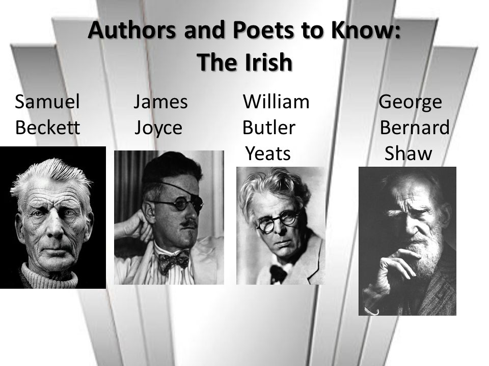 Authors and Poets to Know: The Irish