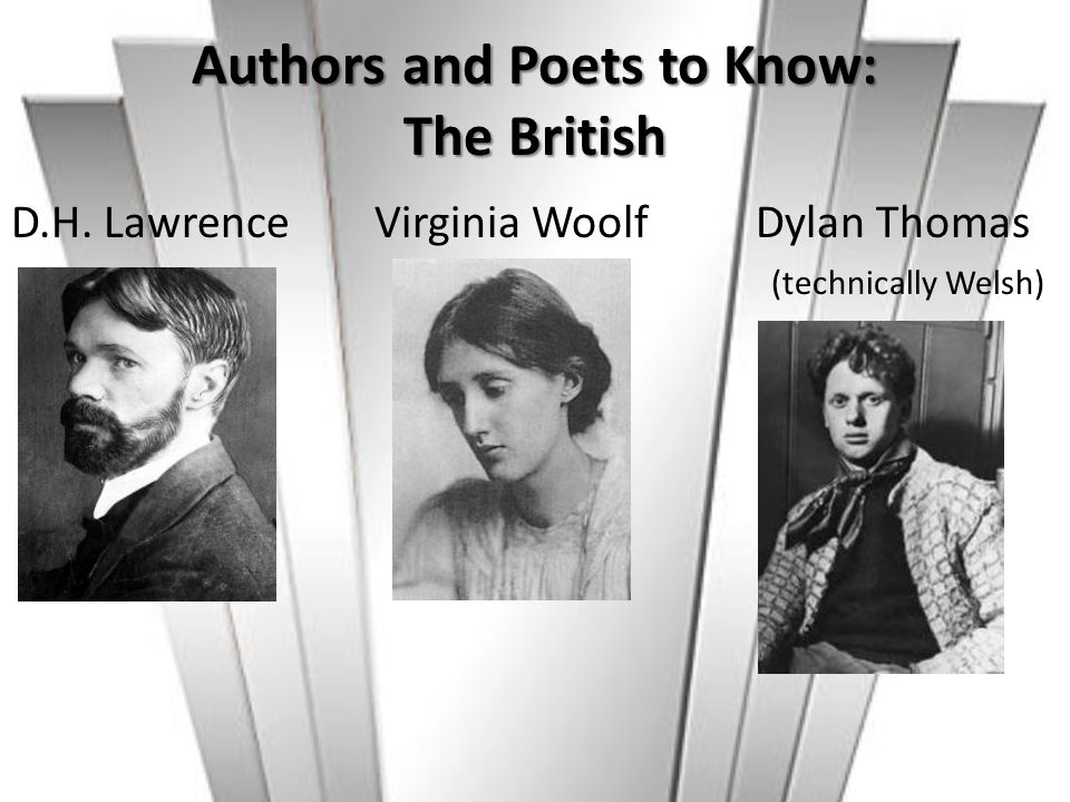 Authors and Poets to Know: The British