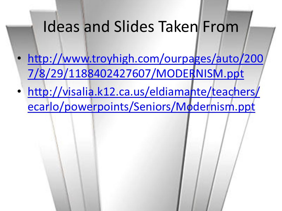 Ideas and Slides Taken From