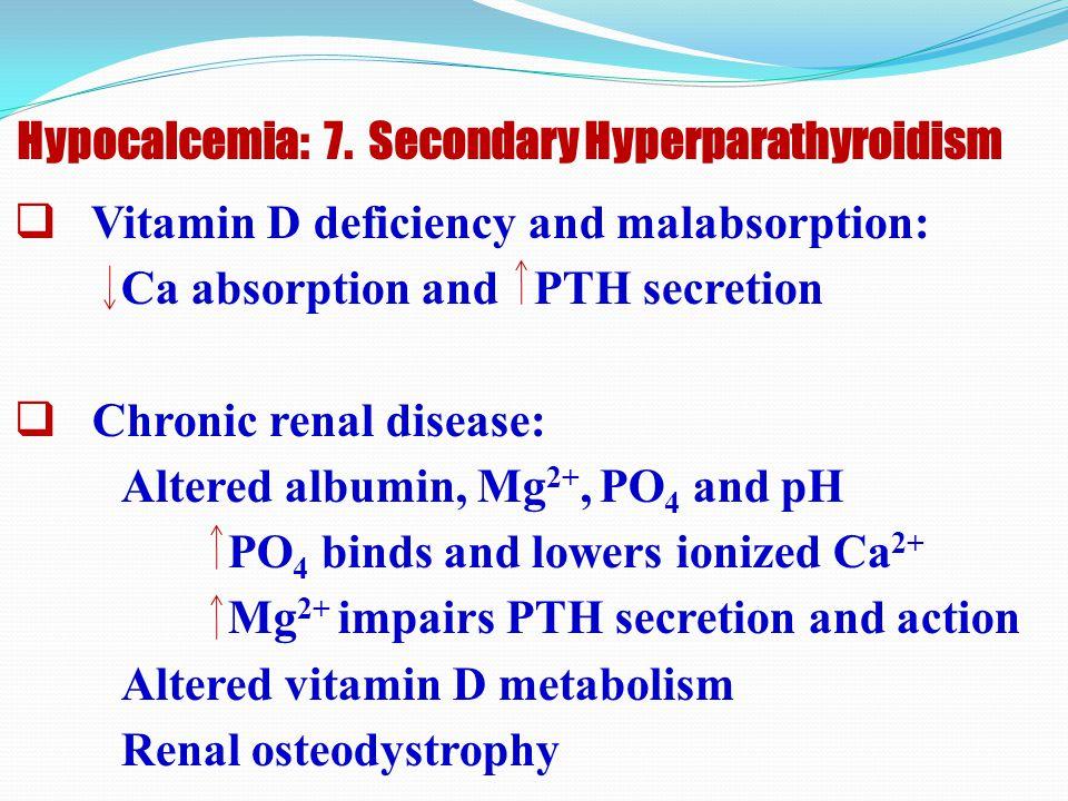 Hypocalcemia: 7. Secondary Hyperparathyroidism