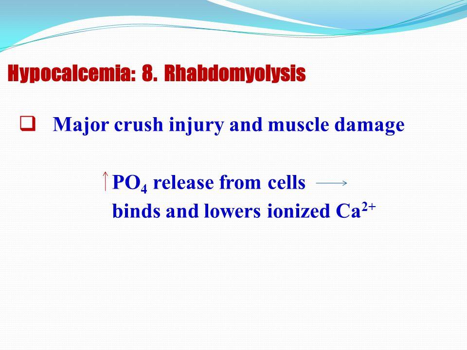 Hypocalcemia: 8. Rhabdomyolysis